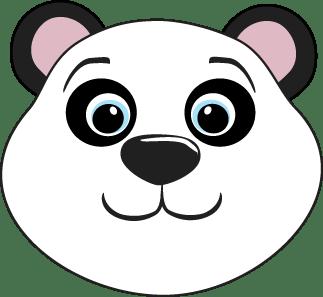 Panda head clipart » Clipart Portal.