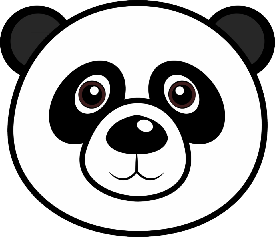 Cartoon panda head clipart images gallery for free download.