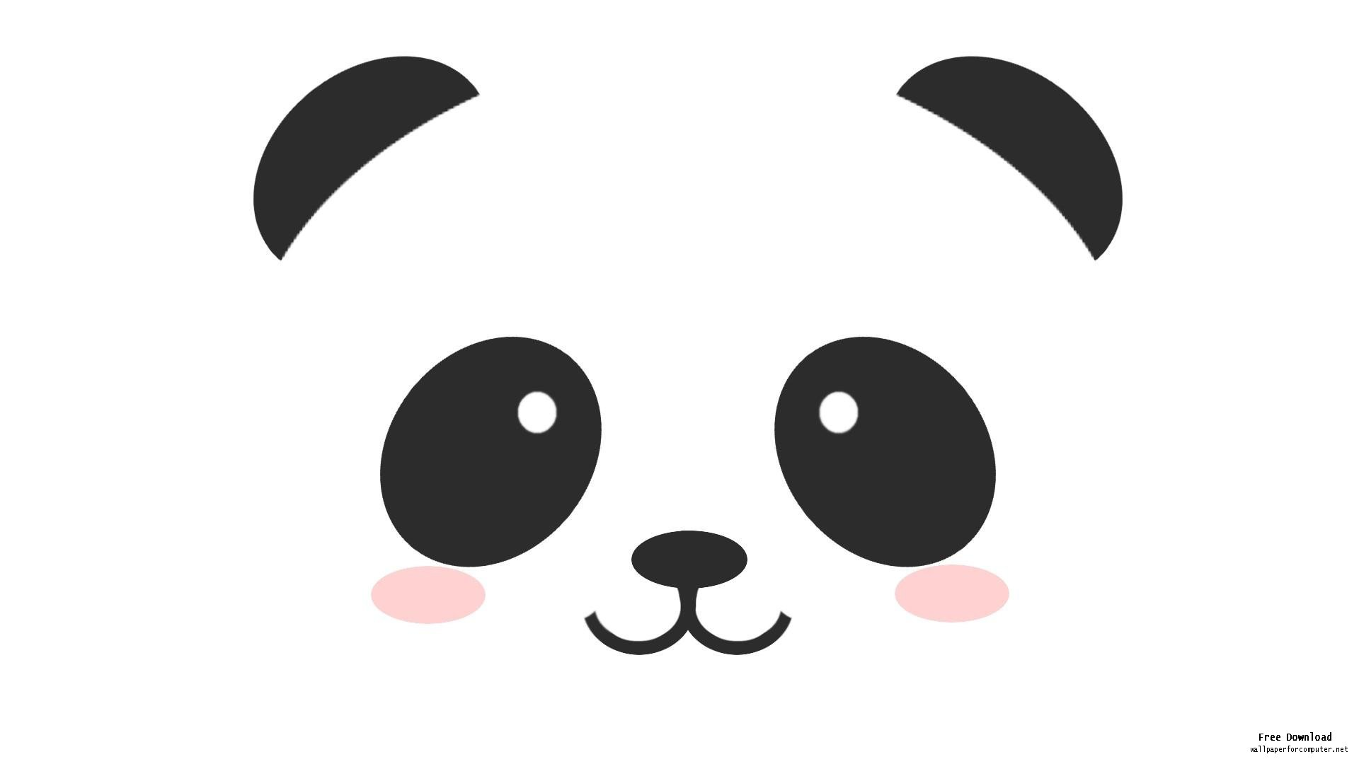 Panda head clipart free images 3.