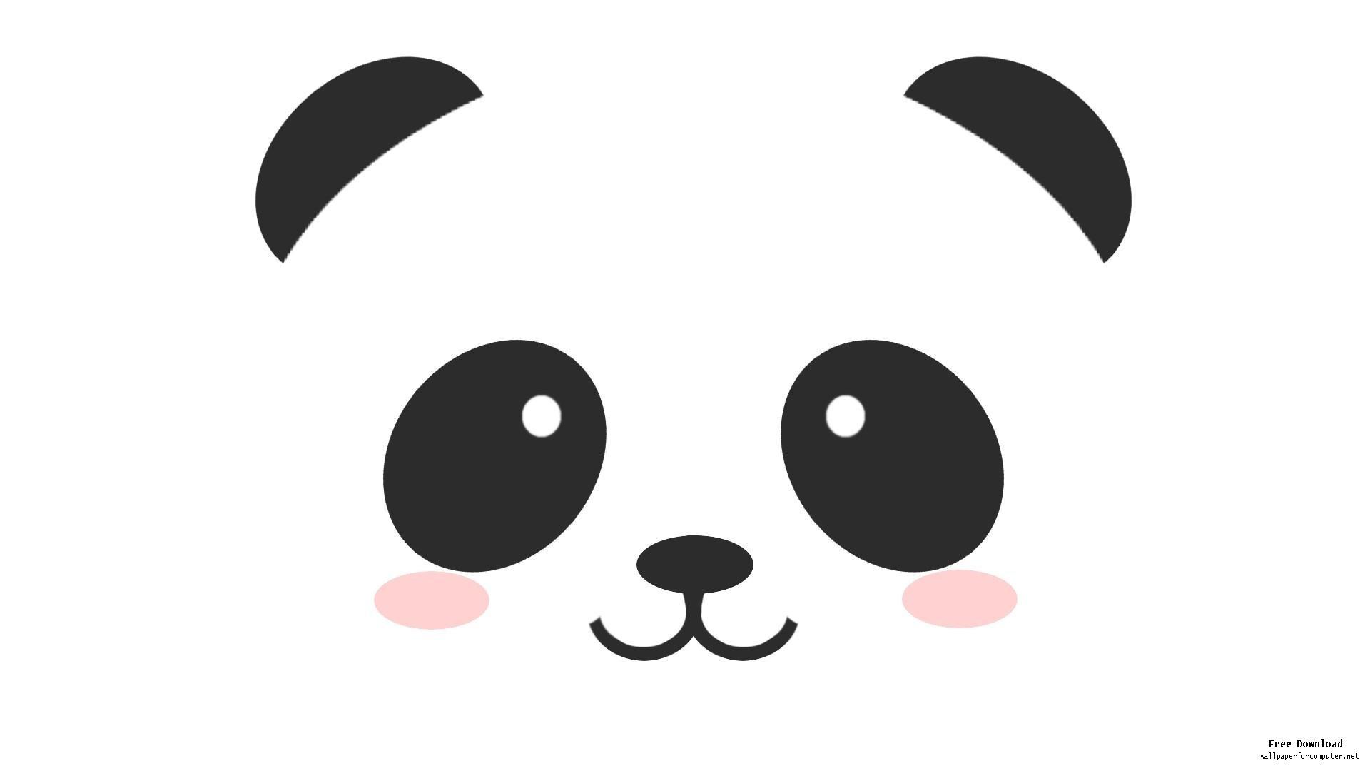 Panda head clipart free images 3.