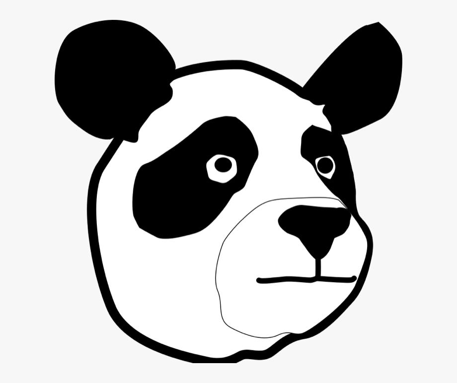 Free Vector Panda Head Clip Art.