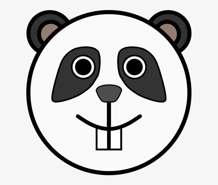 Circle Panda Head Clip Art.