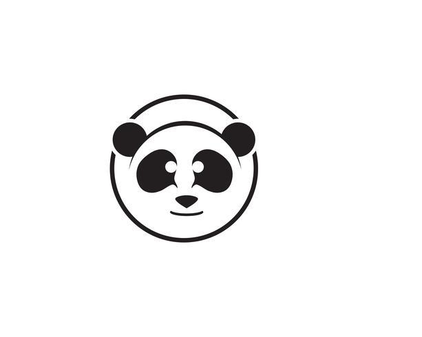 panda logo black and white head.
