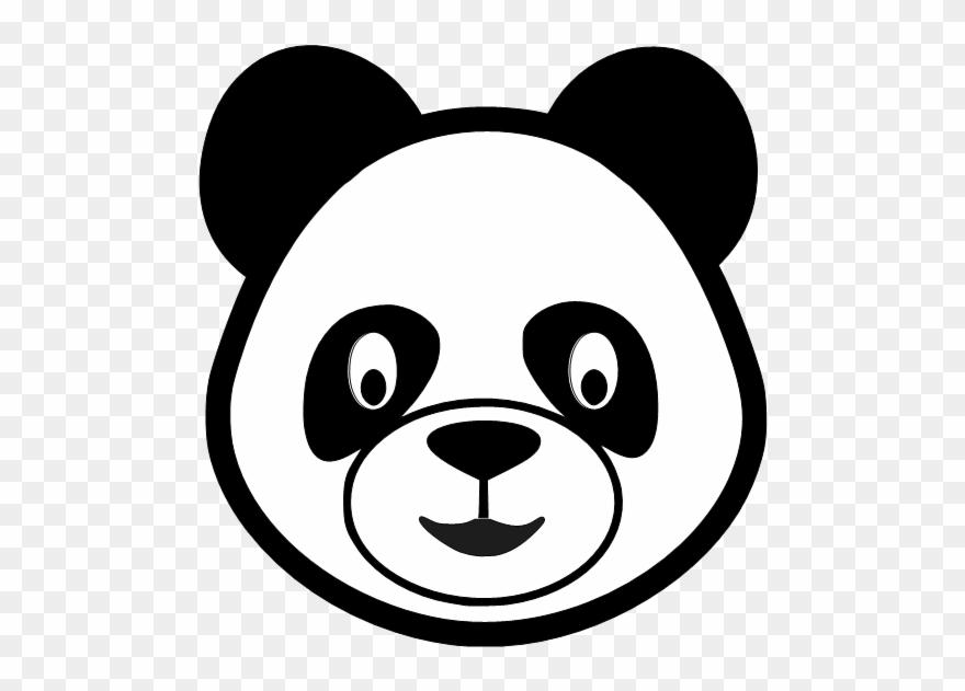 Panda Bear Head Clipart.