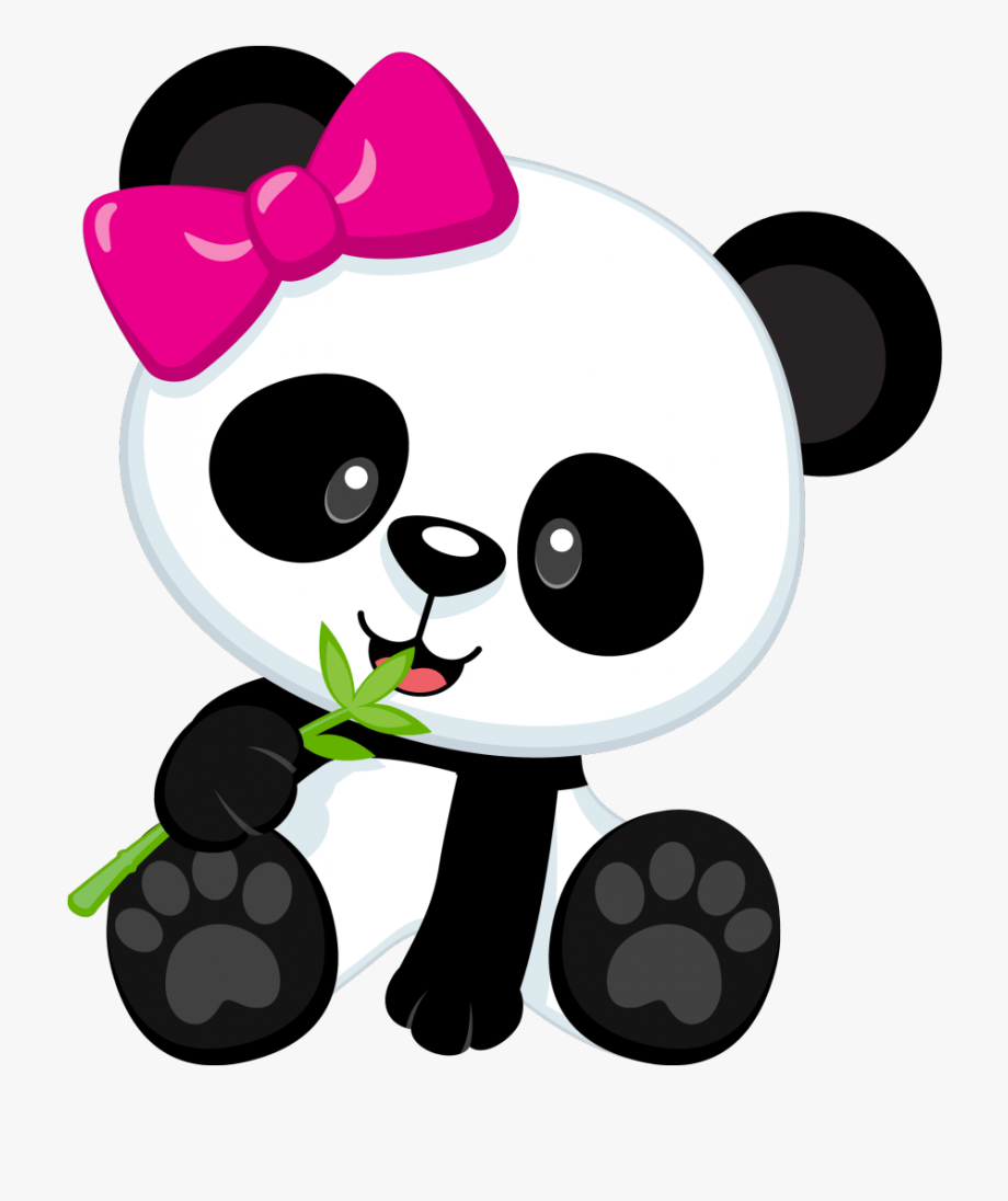Girl Panda Clipart 2 By Maria.
