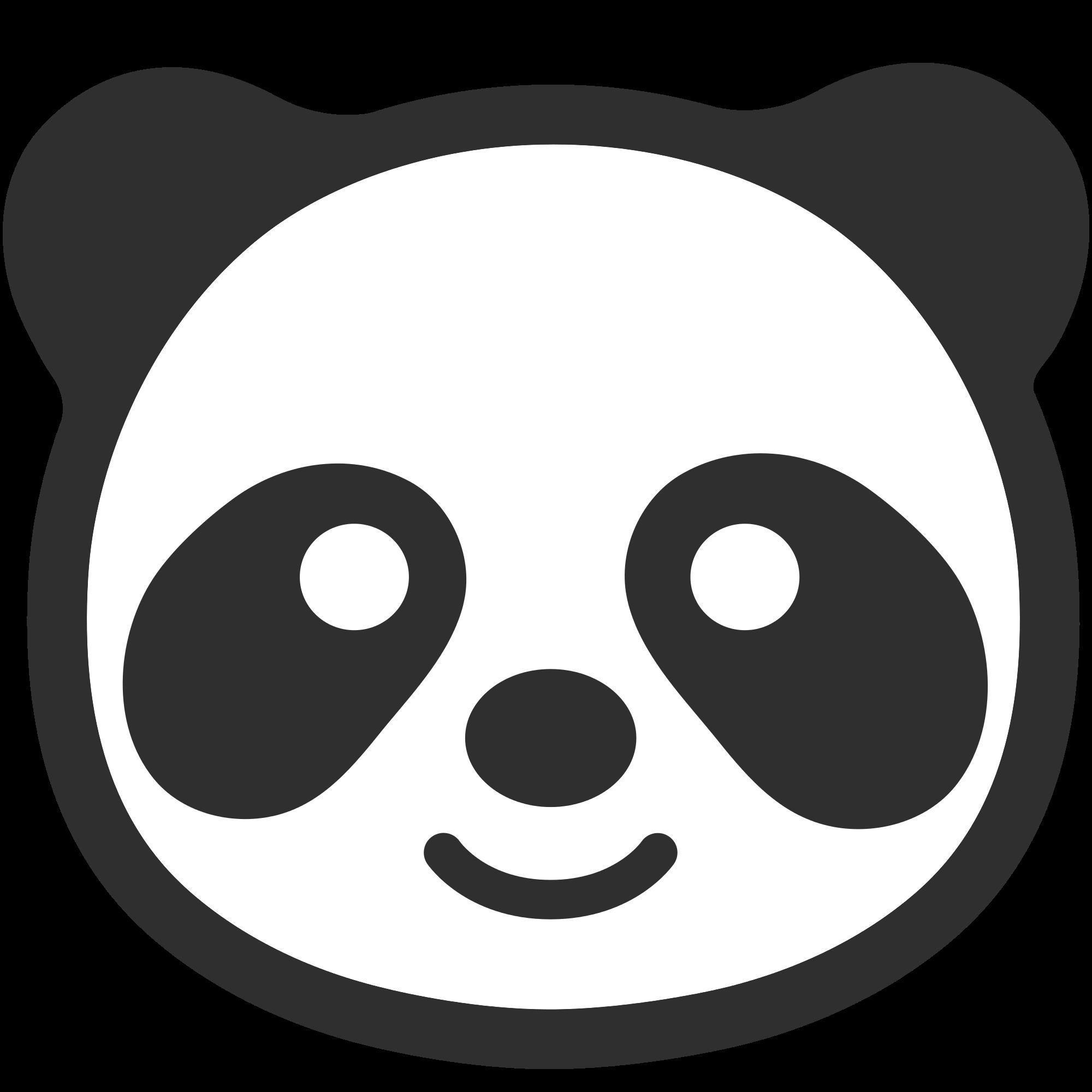Emoji Panda transparent PNG.