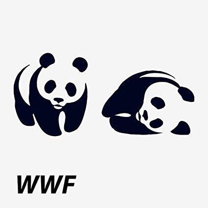 Amazon.com: Wildforlife WWF Logo Panda Tattoo Waterproof.