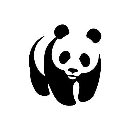 WWF Panda Logo Vinyl Die.