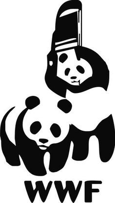 WWF Pandas Wrestling Logo.