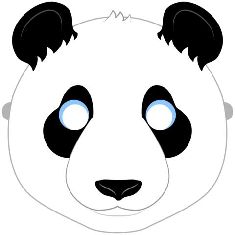 Panda Mask Template.
