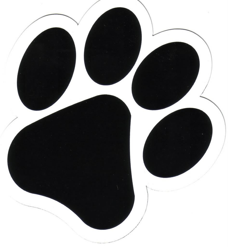 Dog Paw Print Drawing.