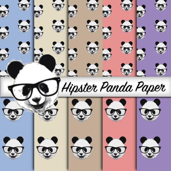 Hipster Panda Paper.