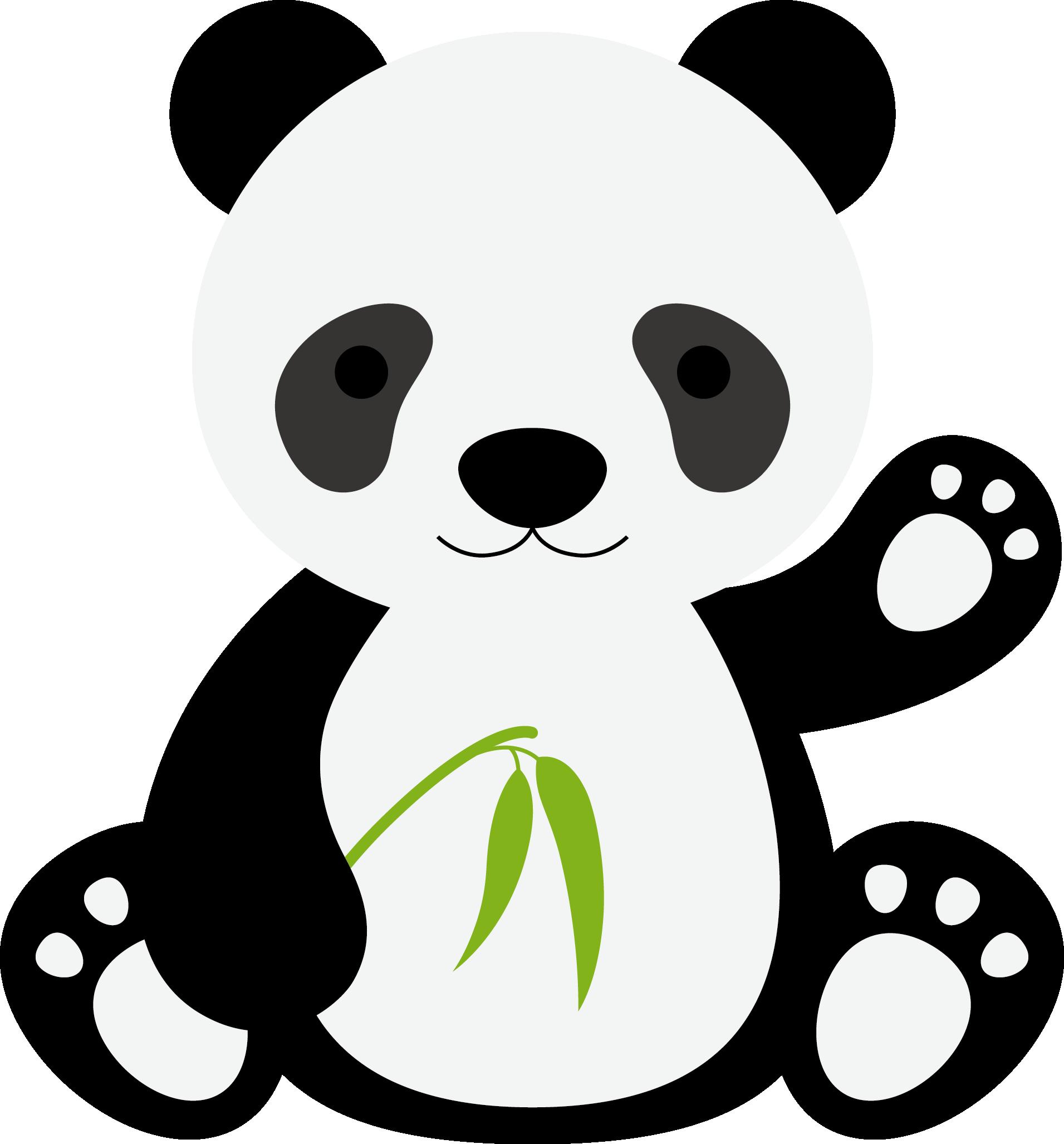 Giant panda Tiger Gorilla Cartoon.
