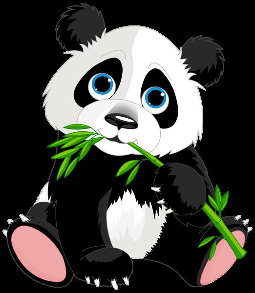 Cute Panda Cartoon Png Clipart Image Free Png Panda Vector.