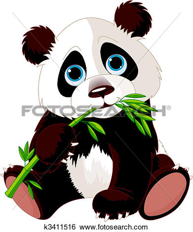 Clipart of pandas in the bamboo forest k4530121.