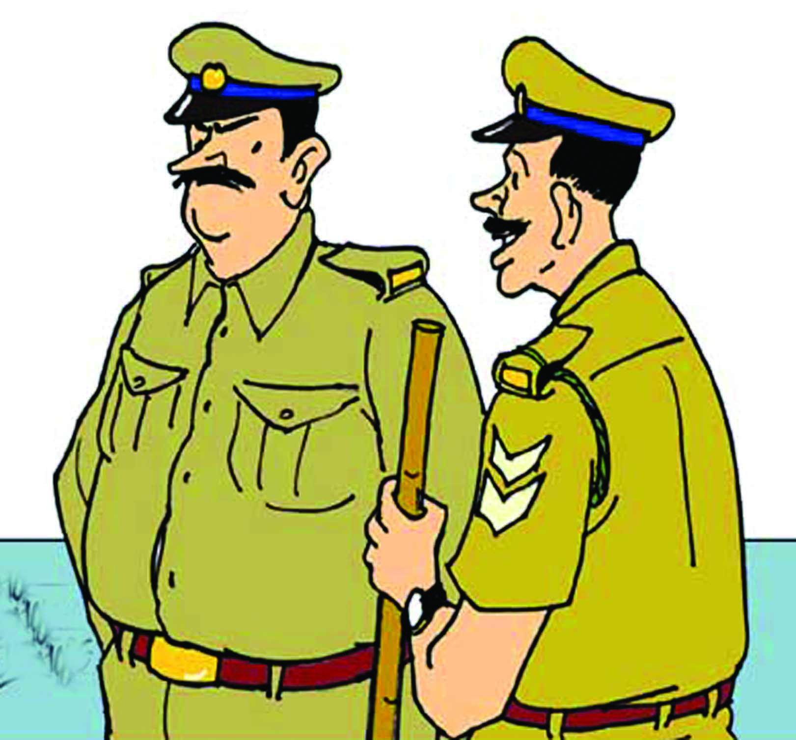Indian policeman clipart.