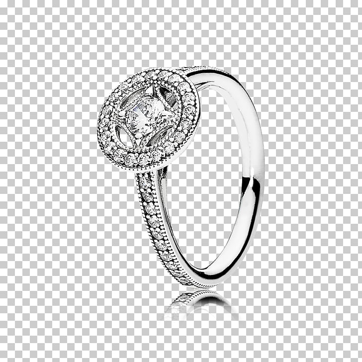 Earring Pandora Jewellery Cubic zirconia, ring PNG clipart.