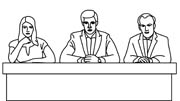 Clip Art Group Of Judges Clipart.