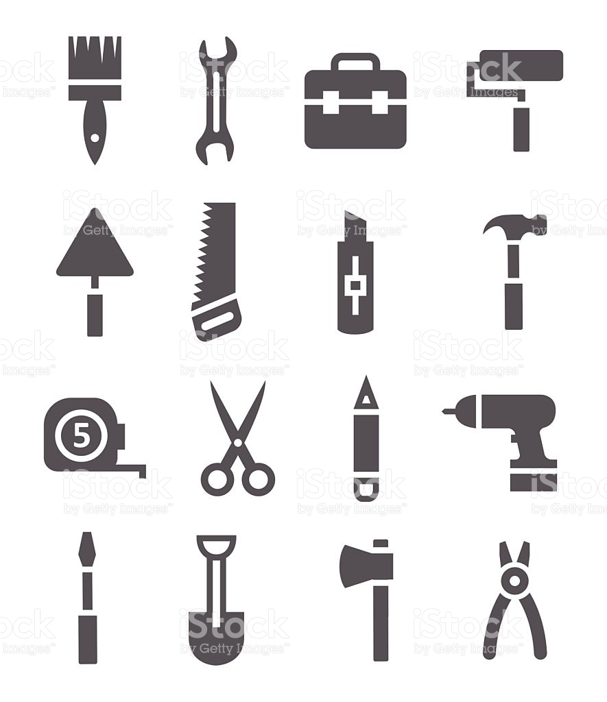 Gray Tool Clip Art Panel Collection stock vector art 468319802.