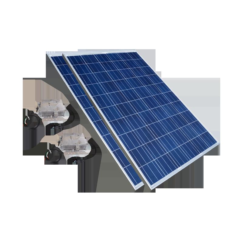 2 paneles solares de 250 W.