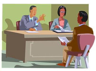 Panel interview clipart.