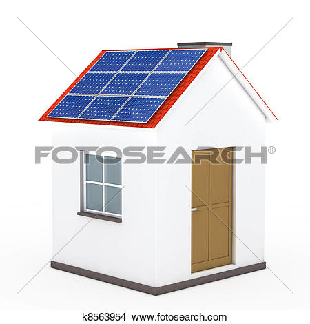Drawings of house solar panel k8563954.