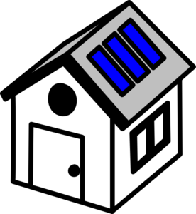 3d House Solar Panels Clip Art at Clker.com.