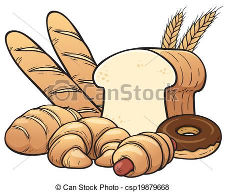 Clip Art de vectores de panes, Conjunto.