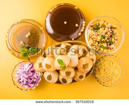 Panipuri Stock Photos, Royalty.
