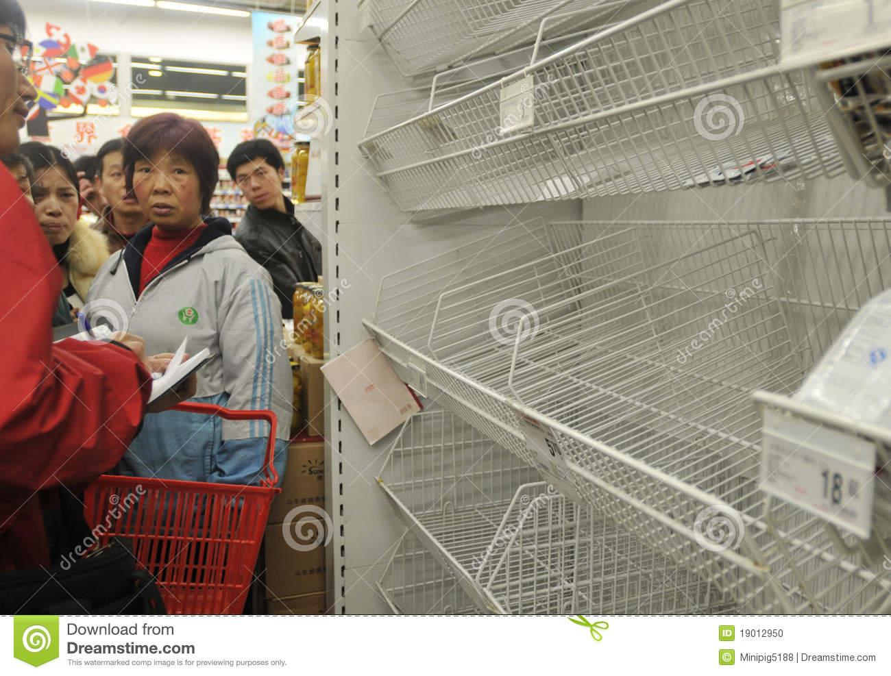 Panic Buying Of Table Salt Editorial Image.
