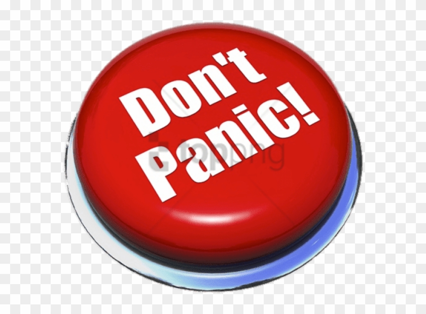 Free Png Don\'t Panic Red Button Png Image With Transparent.