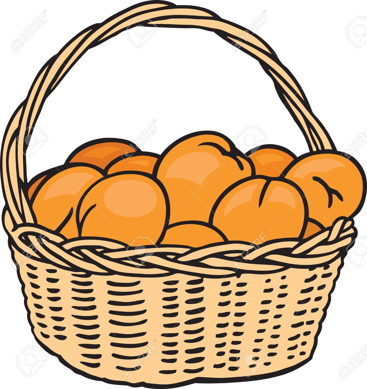 Panier D'oranges Clip Art Libres De Droits , Vecteurs Et.
