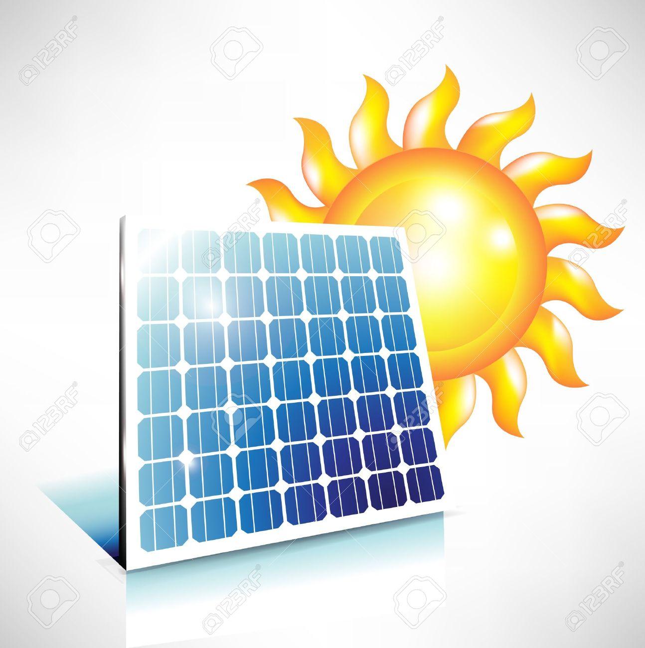 Alternativa Di Energia Solare; Icona Del Pannello Solare Clipart.