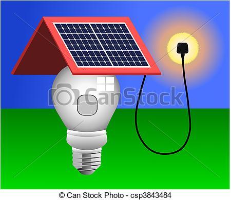 Vettore EPS di luce, vettore, pannelli, solare, energia.