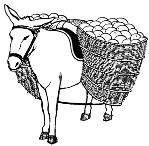 Donkey With Pannier Clip Art Download.