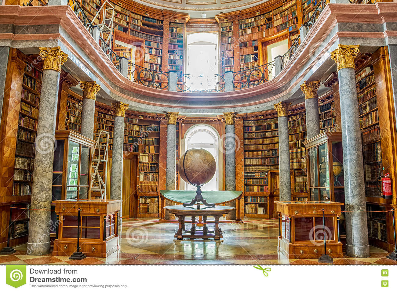 Pannonhalma Library Interior In Hungary Editorial Image.