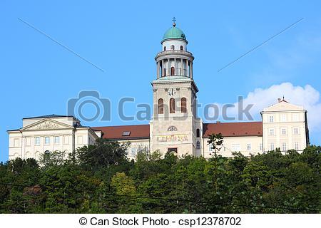 Stock Photography of Pannonhalma Abbey, Hungary. Benedictine abbey.