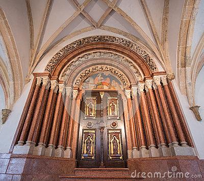 Interior Of Pannonhalma Basilica, Pannonhalma, Hungary Stock Photo.