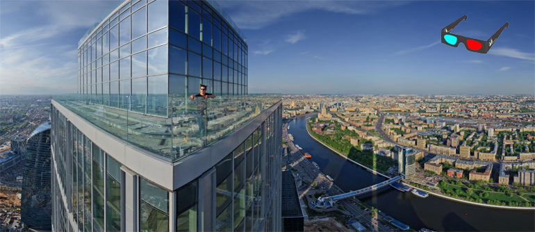 Moscow City View, Stereo Panorama.