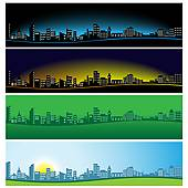 City Panorama Clip Art.