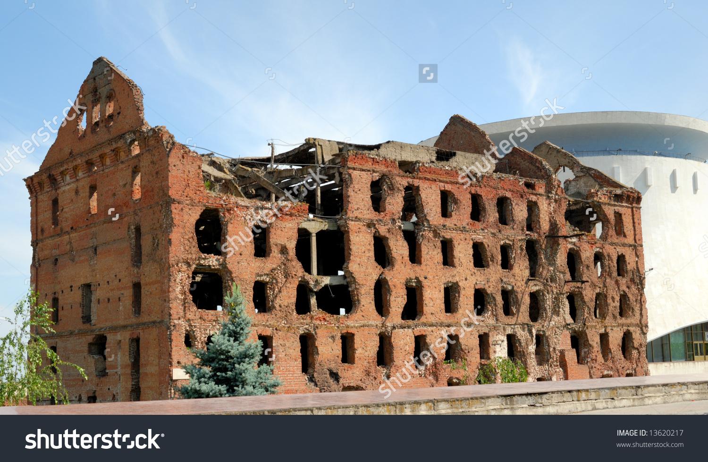 Russia Volgograd Memorial Complex Museum Panorama Stock Photo.