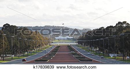 Stock Photograph of Panorama view of Anzac war memorial museum in.