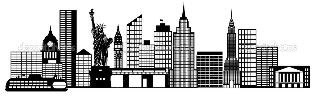 New York City Skyline Panorama Clip Art — Stock Photo © jpldesigns.