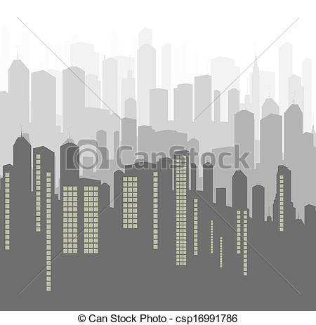 Vector of City vector background panorama for poster csp16991786.