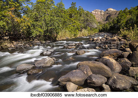 """Stock Image of """"Rock formations, Blyde River, Blyde River Canyon."""