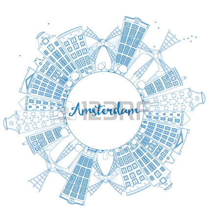 177 Amsterdam Panoramic Stock Vector Illustration And Royalty Free.