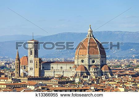 Stock Image of Florence, Duomo Cathedral, Basilica Santa Maria del.