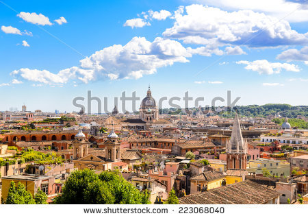 Rome Panorama Stock Photos, Royalty.