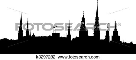 Clipart of Riga panorama k3297282.