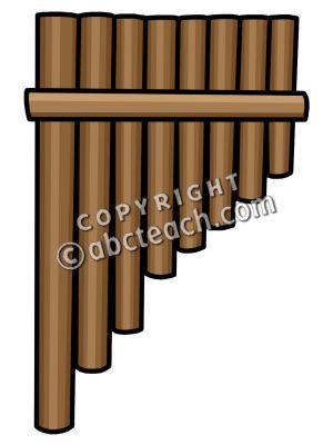 Clip Art: Panpipe Color.